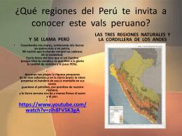 ¿Qué regiones del Perú te invita a conocer este vals peruano?