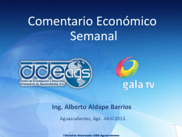 Gala TV. Aguascalientes Abril