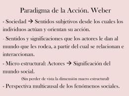 Max Weber. Acción social y tipos ideales.