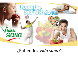 PowerPoint_Intro to La vida sana