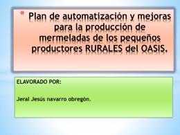 Plan de automatización y mejoras para la producción de