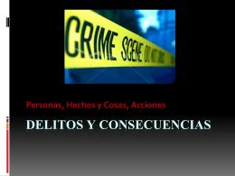 Delitos y consecuencias - vocabulario