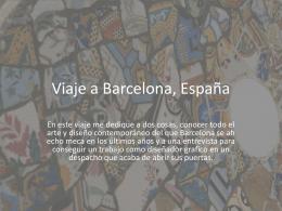 Viaje a Barcelona, España
