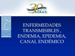Endemia, Epidemia, Canal Endémico