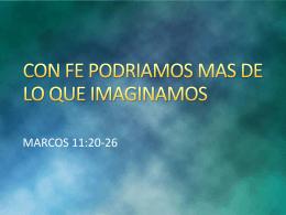20140423 Con fe podriamos mas de lo que imaginamos