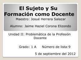 File - El sujeto y su formación como docente