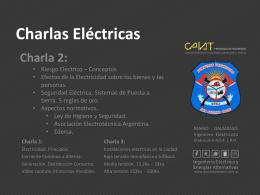 Seguridad Eléctrica Aspectos Normativos.
