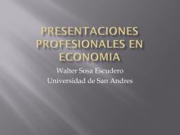 presentaciones profesionales en economia