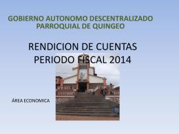 RENDICION DE CUENTAS PERIODO FISCAL 2014