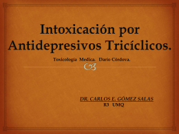 INTOXIC. TRICICLICOS
