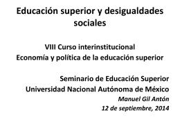 Educación superior y desigualdades sociales