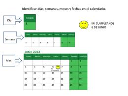 Identificar días, semanas, meses y fechas en el