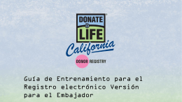 Política de Privacidad - Donate Life California