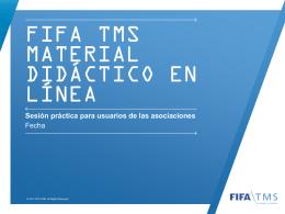 Sesión de práctica - FIFA TMS | Log in