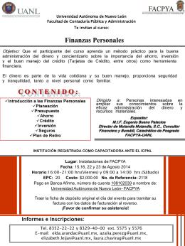 Finanzas Personales Agosto 2014