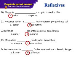 Reflexives - Spokane Public Schools