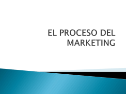 EL PROCESO DEL MARKETING