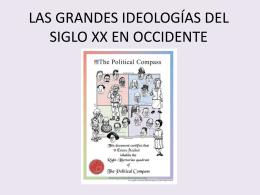 LAS GRANDES IDEOLOGÍAS DEL SIGLO XX EN OCCIDENTE