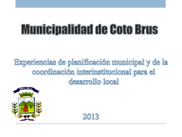Plan de desarrollo local de Coto Brus
