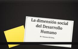 La dimensión social del Desarrollo Humano