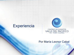 Informe de experiencia CEVP
