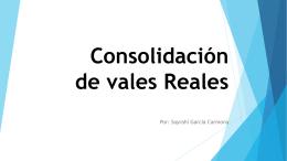 Consolidacion de los vales reales