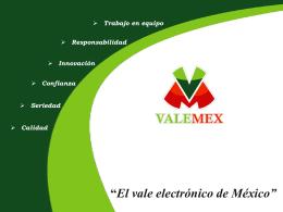 El vale electrónico de México