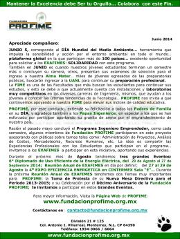 Junio_2014 - Fundación PROFIME