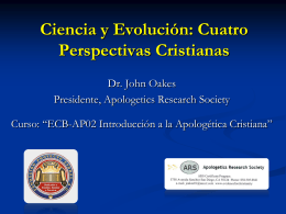 Ciencia - Evidence for Christianity