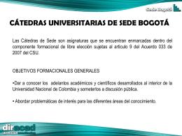 Diapositiva 1 - Sede Bogotá UN - Universidad Nacional de Colombia