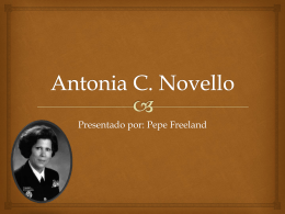 Antonia C. Novello Powerpoint