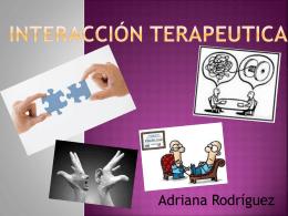 Interacción Terapéutica. - Principios de Psicoterapia