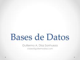 Bases de Datos - guillermodiaz