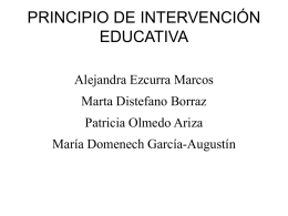 2. Principio de Intervención Educativa.