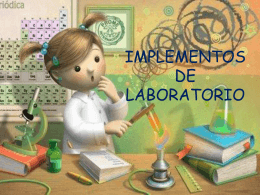 IMPLEMENTOS DE LABORATORIO CIENCIAS