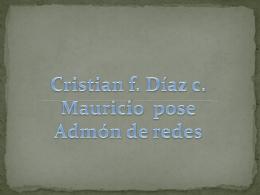 Cristian f. Díaz c. Mauricio pose Admón de redes ESCUDO DEL SENA