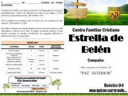 Paz interior boletin 4 - CFC Estrella de Belen