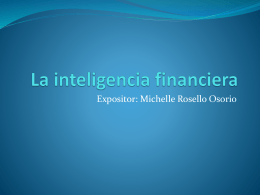 La inteligencia financiera