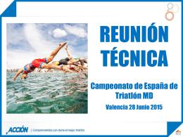 Reunion Tecnica - Federación Española de Triatlón