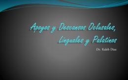 Clase 5 Apoyos y Descansos Oclusales, Linguales y Palatinos