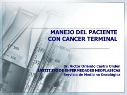 SEDACIONPALIATIVA - Instituto Nacional de Enfermedades