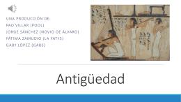 El arte en la Antigüedad