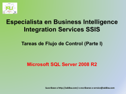 Clase BI MSQL Server2008 Integration Services