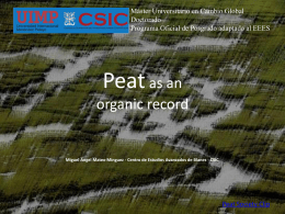 Peat Dsitribution and description of the record