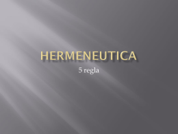 HERMENEUTICA - Iglesia TFM