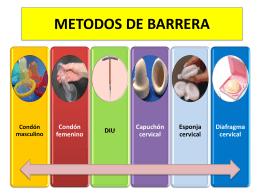 METODOS DE BARRERA - Farmaco2 Dr:Matamoros