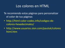 Los colores en HTML - dgeti quintana roo