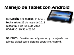 Manejo de Tablet con Adroid - casianocampos