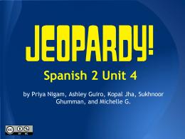 Unidad 4 Jeopardy