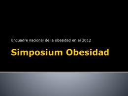Simposium Obesidad - Dr. Víctor Huggo Córdova Pluma